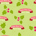 Christmas and new year seamless background with the words vector illustration eps Royalty Free Stock Photo