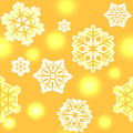 Christmas and New Year snowflake pattern seamless Stock Photo