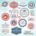 Christmas and New Year stickers and elements Royalty Free Stock Photography
