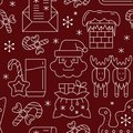 Christmas New year symbol seamless pattern