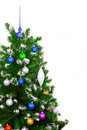 Christmas and New Year tree. Isolated Royalty Free Stock Photography