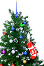 Christmas and New Year tree. Isolated Stock Images