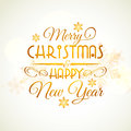 Christmas and New Year Typographic background.