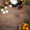 Christmas or New Year Vintage wooden background