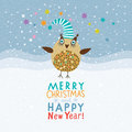 Christmas and New Years card Royalty Free Stock Photography