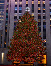 Christmas in new york - Rockefeller Center Christmas Tree Royalty Free Stock Photo