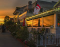 Christmas in Newport Beach at Sunset, California Stock Photography