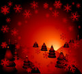 Christmas night Royalty Free Stock Photo