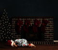 Christmas Night Child Stock Photography