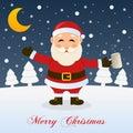Christmas Night with Drunk Santa Claus