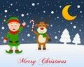 Christmas Night, Green Elf & C...