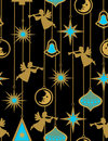 Christmas night - seamless pattern Stock Photography