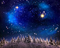 Christmas night sky  background. Royalty Free Stock Photo