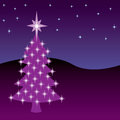 Christmas Night Tree Royalty Free Stock Photo