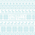 Christmas nordic pattern Royalty Free Stock Image