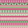Christmas Nordic Stripe Border Patterns