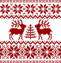 Christmas norwegian pattern Royalty Free Stock Image