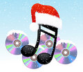 Christmas note and disc Royalty Free Stock Images