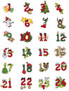 Christmas numbers illustration of christamas isolated Stock Photography