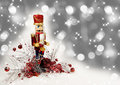 Christmas Nutcracker Drummer Royalty Free Stock Photo