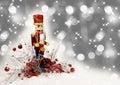 Christmas Nutcracker Drummer Royalty Free Stock Photo