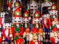 Christmas nutcracker toy soldier collection. Various traditional Royalty Free Stock Photo