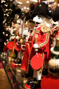Christmas Nutcrackers in Department Store Royalty Free Stock Photography