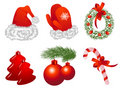 Christmas objects Stock Photo