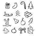 Christmas objects collection Stock Images