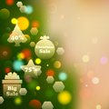 Christmas offer on bokeh effect background illustration of Stock Photos