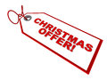 Christmas offer price tag with text white background concept of and special sale Stock Photos