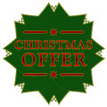 Christmas offer star Royalty Free Stock Photo