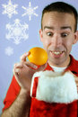 Christmas Oranges Royalty Free Stock Images