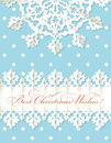 Christmas origami snowflake vector background Royalty Free Stock Photos
