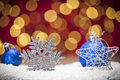 Christmas ornament background with blue Royalty Free Stock Photography