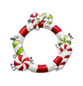 Christmas ornament frame Royalty Free Stock Photo