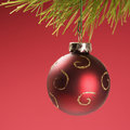 Christmas ornament hanging Royalty Free Stock Image