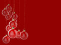 Christmas ornament and merry christmas card empty Royalty Free Stock Images