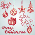 Christmas ornament sketches Royalty Free Stock Image