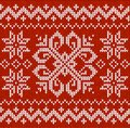 Christmas ornamental embroidery Royalty Free Stock Images