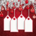 Christmas Ornaments Baubles Twigs Price Sticker