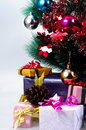 Christmas ornaments on day family members have exchanged gifts etiquette especially adults give their children gifts but many Royalty Free Stock Image