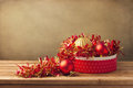 Christmas ornaments in gift box Stock Photography