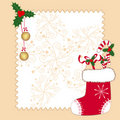 Christmas ornaments greeting card Royalty Free Stock Photos