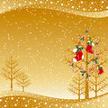 Christmas ornaments greeting card Stock Photography
