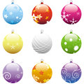 Christmas Ornaments Set Royalty Free Stock Photos