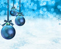 Christmas ornaments snow scene Royalty Free Stock Photo