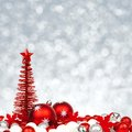 Christmas ornaments with twinkling background Royalty Free Stock Photo