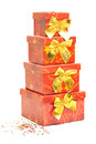 Christmas package against white background Royalty Free Stock Images
