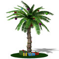 Christmas Palm Tree. Stock Image